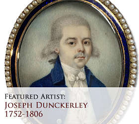 Biographical article on Joseph Dunckerley (often misspelled as Dunkerly or Dunkerley), early American miniature portrait painter/artist