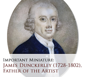 Important portriat miniautre: James Dunckerley, father of Joseph Dunckerley, miniature portrait painter