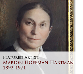 Biographical article on Marion Hoffman Hartman, 20th century American miniature portrait painter/artist