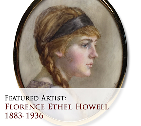 Biographical article on Florence Ethel Howell, 20th century English miniature portrait painter/artist