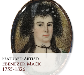 Biographical article on Ebenezer Mack, early American miniature portrait painter/artist