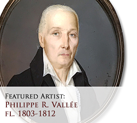 Biographical article on Philippe R. Vallée (often erroneously confused with Jean François Vallée), early American miniature portrait painter/artist